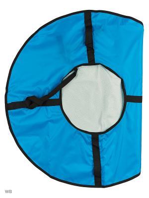 Санки надувные Ватрушка Метиз. Цвет: голубой, серый