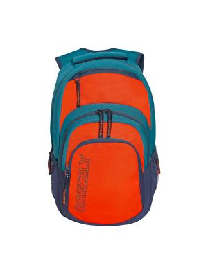 Рюкзак Grizzly. Цвет: оранжевый, синий