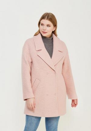 Пальто Синар. Цвет: розовый