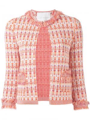 Открытый пиджак с мелким узором Giada Benincasa. Цвет: жёлтый и оранжевый