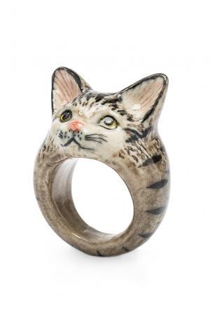 Кольцо 184774 Nach Jewellery. Цвет: серый