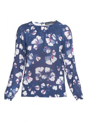 Блуза из вискозы 182604 Paola Morena. Цвет: разноцветный