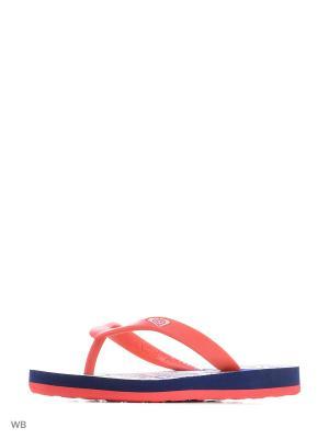 Шлепанцы ROXY. Цвет: красный, белый, синий