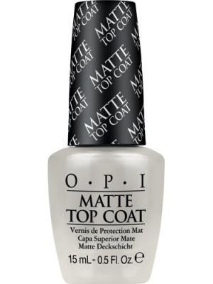 Opi Верхнее покрытие для создания матового эффекта Matte Top-Coat, 15 мл. Цвет: прозрачный
