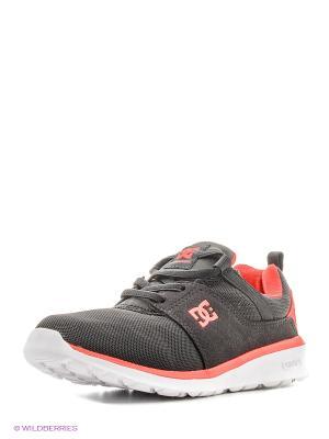 Кроссовки DC Shoes. Цвет: лиловый, черный