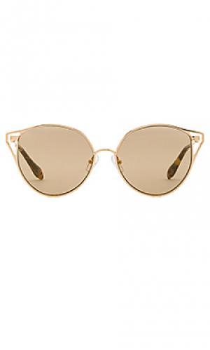 Солнцезащитные очки ibiza Sonix. Цвет: металлический золотой