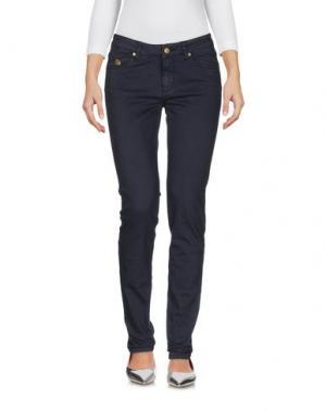 Джинсовые брюки DUCK FARM. Цвет: темно-синий