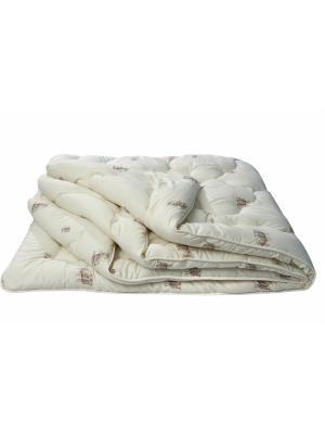 Одеяло Овечья шерсть ИвШвейСтандарт. Цвет: бежевый, коричневый