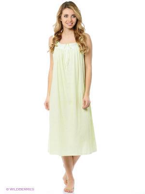 Ночная сорочка Aria. Цвет: салатовый