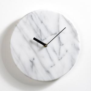 Часы настенные из мрамора Ø25,4 см, Gemma AM.PM.. Цвет: белый мрамор