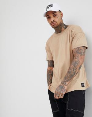 Sixth June Oversize-футболка. Цвет: светло-бежевый