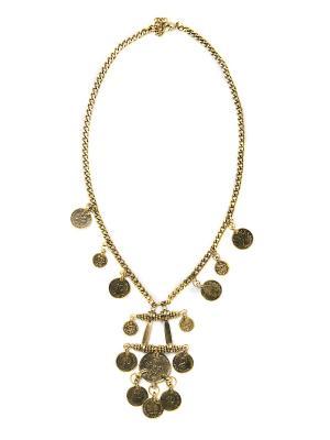 Колье из бронзы Бохо BH0023 Indira. Цвет: бронзовый