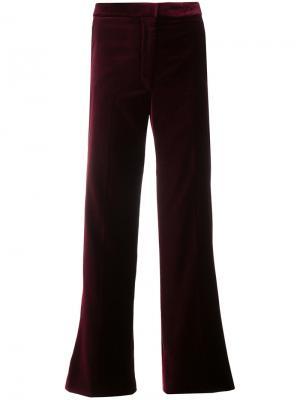 Укороченные брюки с высокой талией Stella McCartney. Цвет: красный