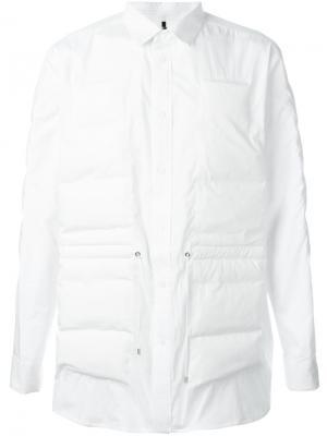 Стеганая рубашка Oamc. Цвет: белый
