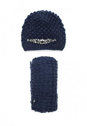 Комплект шапка и шарф Avanta. Цвет: синий