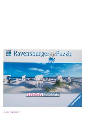 Паззл панорамный Пляжные корзинки на Зюлте, 1000 шт Ravensburger. Цвет: голубой, белый