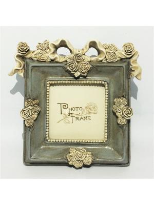 Фоторамка декоративная Розы и ленты Magic Home. Цвет: оливковый