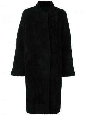 Пальто из овчины Sprung Frères. Цвет: чёрный