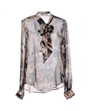 Блузка ANGELO MARANI. Цвет: светло-серый