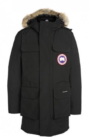 Куртка с отделкой Canada Goose. Цвет: черный