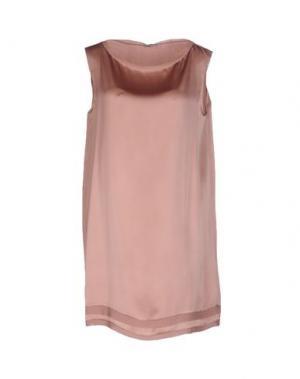 Короткое платье ANTONELLI. Цвет: пастельно-розовый