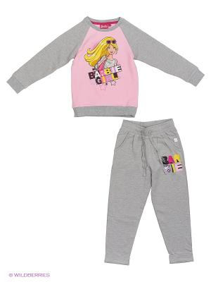 Спортивный костюм Barbie. Цвет: серый меланж