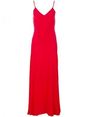 Длинное платье на бретелях Sophia Anine Bing. Цвет: красный