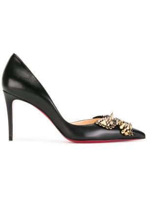 Туфли-лодочки с заклепками Christian Louboutin. Цвет: чёрный