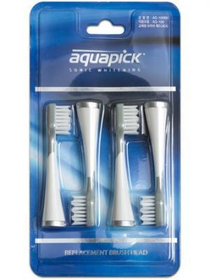 Насадки для электрической зубной щетки AQ-100BH,4шт .,Aquapick Aquapick. Цвет: серый, белый