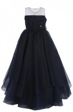 Платье Dennis Basso. Цвет: синий