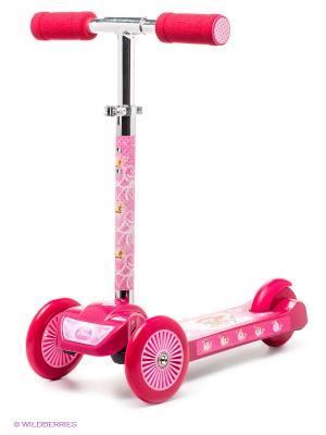 Самокат Disney Princess 3-х колесный. Цвет: розовый