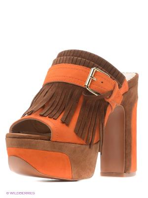 Сабо ASH. Цвет: коричневый, оранжевый