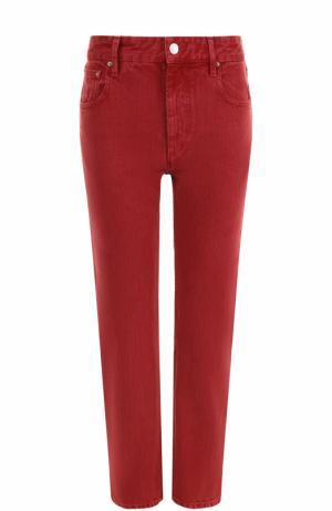 Укороченные однотонные джинсы прямого кроя Isabel Marant Etoile. Цвет: красный