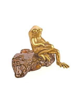 Фигура Лягушка деловая Aztek. Цвет: желтый, коричневый, светло-оранжевый