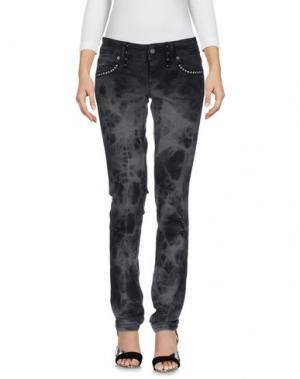 Джинсовые брюки GALLIANO. Цвет: свинцово-серый