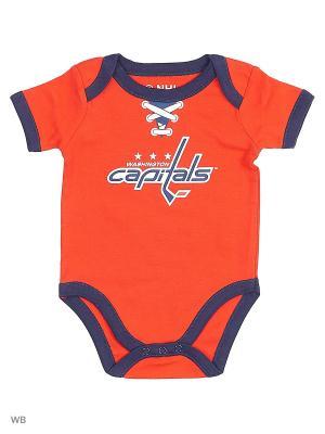 Боди NHL Capitals Atributika & Club. Цвет: красный, синий