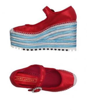Туфли MARC BY JACOBS. Цвет: красный