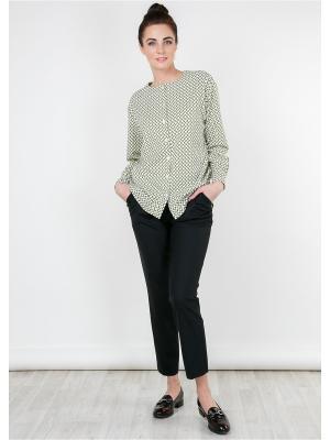 Рубашка MAYAMODA. Цвет: зеленый, хаки, молочный