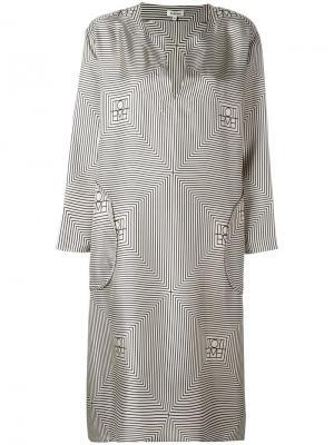 Платье с узором Toteme. Цвет: телесный