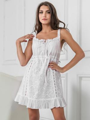 Ночная сорочка MIA-MELLA. Цвет: белый