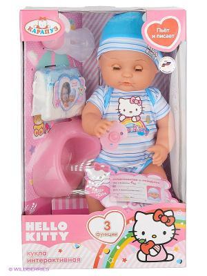 Пупс Карапуз Hello Kitty. Цвет: голубой
