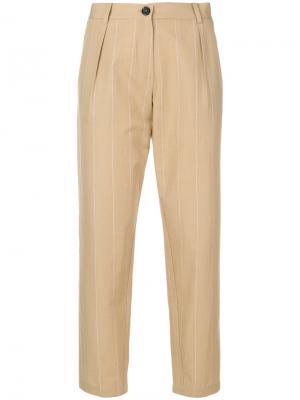 Классические укороченные брюки Erika Cavallini. Цвет: телесный