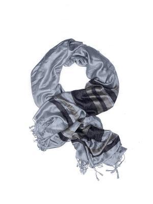 Кашемировый шарф Осень в Нью Йорке с бахромой стиле кэжуал, 175 х 70 см Nothing but Love. Цвет: черный, серый