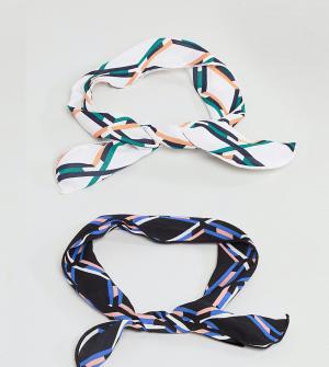 ASOS Набор из 2 повязок на голову с принтом. Цвет: мульти