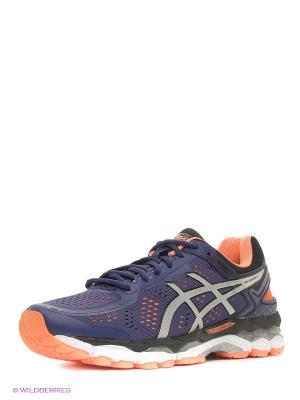 Спортивная обувь GEL-KAYANO 22 ASICS. Цвет: синий, серый, оранжевый, черный