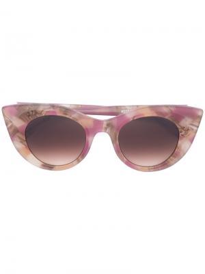 Солнцезащитные очки с принтом Thierry Lasry. Цвет: розовый и фиолетовый