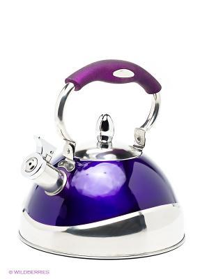 Чайник металлический Bekker. Цвет: фиолетовый