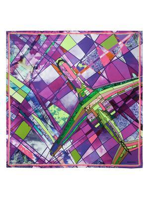 Платок Eleganzza. Цвет: зеленый, бирюзовый, лиловый, сливовый, фиолетовый