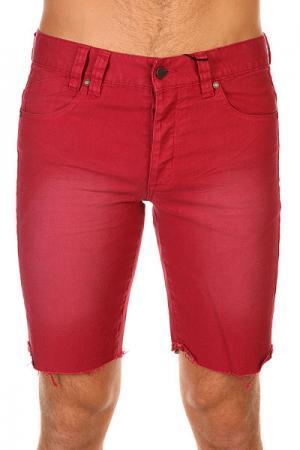 Шорты джинсовые  Los Meurtos Deadbeet Insight. Цвет: бордовый