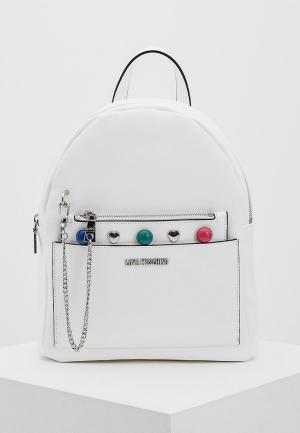 Рюкзак Love Moschino. Цвет: белый